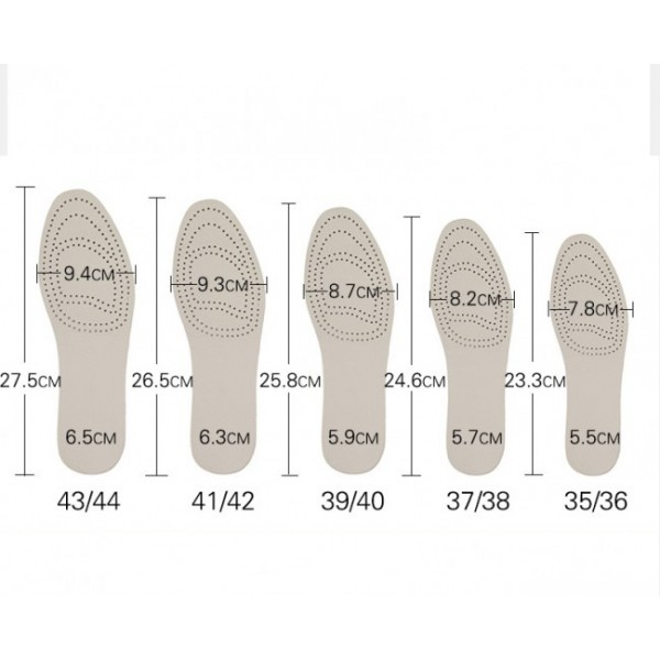 1.5CM to 4CM Cowhide Height Increasing Insoles Tailorable Elevator Inserts