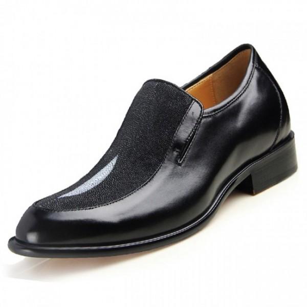 High-Flyer 2.56Inches/6.5CM Genuine Stingray Skin Formal Elevator Dress Shoes