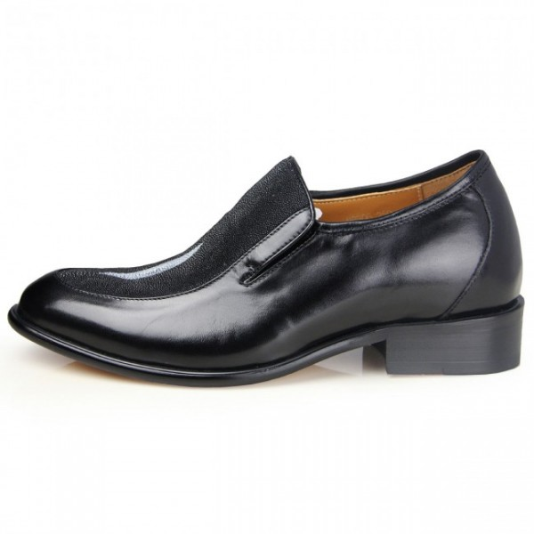 High-Flyer 2.56Inches/6.5CM Genuine Stingray Skin Formal Elevator Dress Shoes