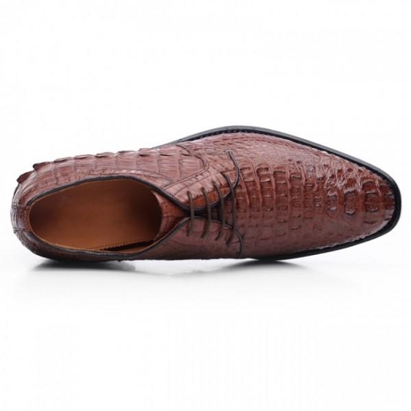 Customized 2.56Inches/6.5CM Full Genuine Alligator Elevator Wedding Shoes