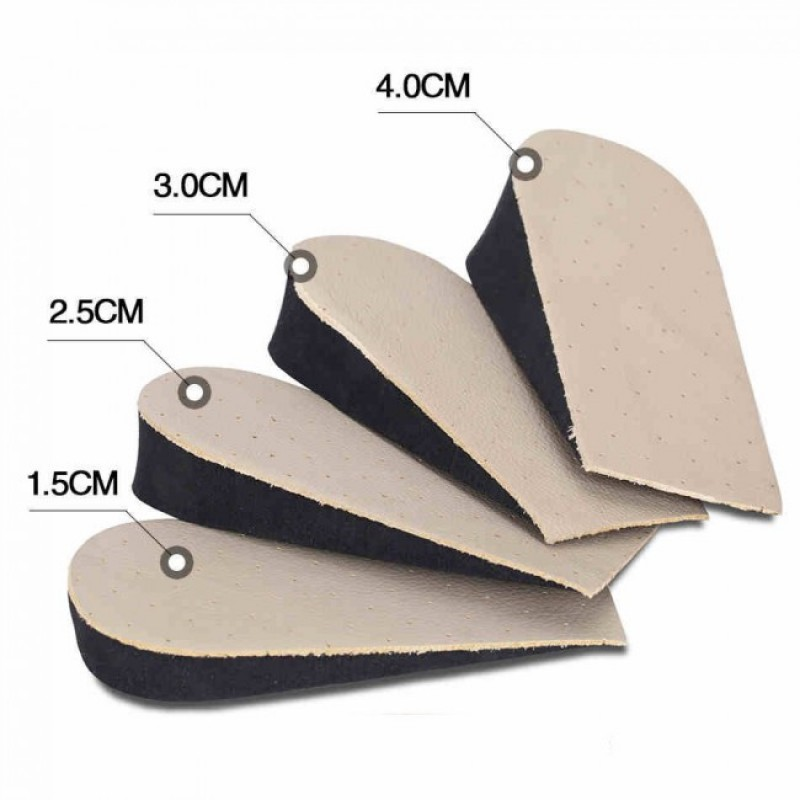 1.5CM to 4CM Half Cowhide Height Increasing Insoles