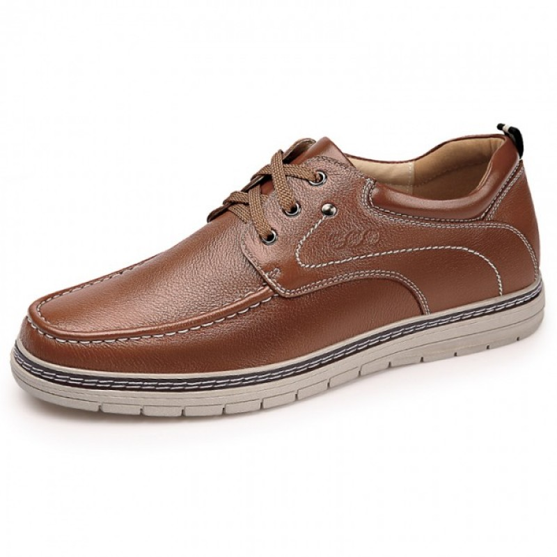 Brown Elevator Casual Shoes