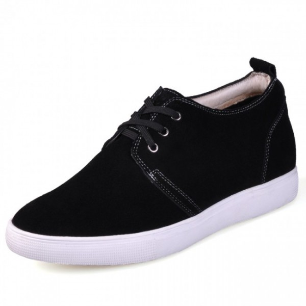Invisibly 2.36Inches/6CM Black Korean Casual Shoes