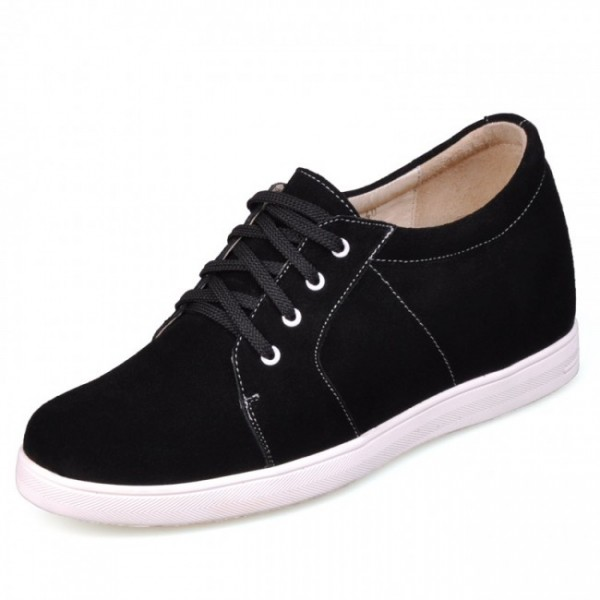 2.75Inches/7CM Black Wool Lining Increase Height Shoes