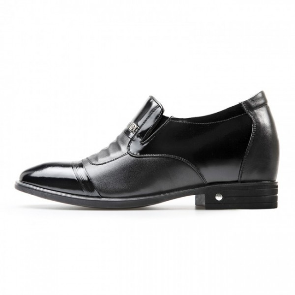 3.2Inches/8CM Cap toe slip on Height Increasing Dress Loafers