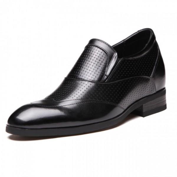 Superior 2.6Inches/6.5CM Elevator Wedding Slip On Groom Tuxedo Shoes