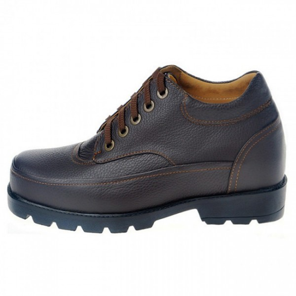 Casual 4Inches/10CM Black Height Increasing Elevator Shoes