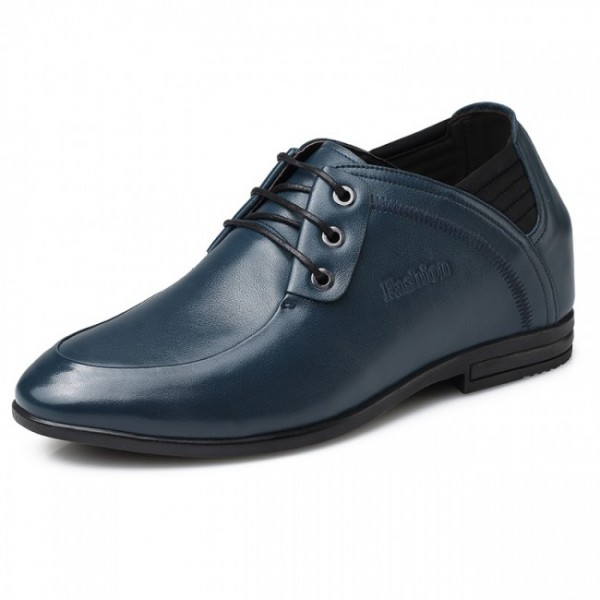 Casual 3.15Inches/8CM Blue UK Business Elevator Shoes