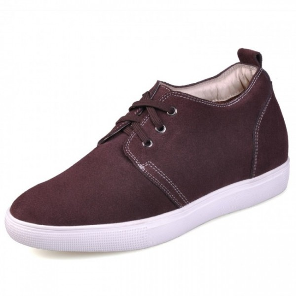 Best 2.36Inches/6CM Brown Height Increasing Casual Shoes