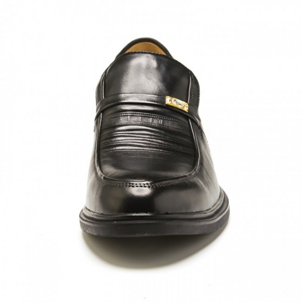 2.17 Inches/5.5CM Black Europe Leather Elevator Formal Shoes