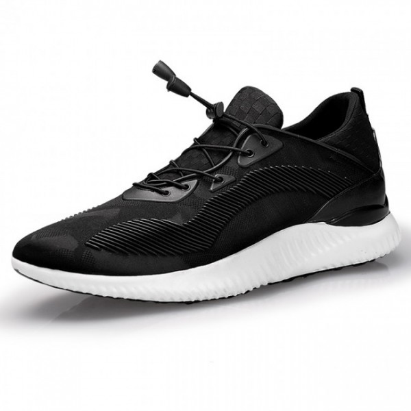 Ultra Light 2.4Inches/6CM Black Sneakers Taller Sports Shoes